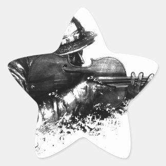 Sticker Étoile tireur isolé de violon