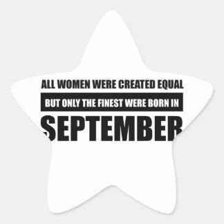 Sticker Étoile Toutes les femmes étaient des conceptions égales