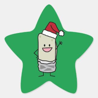 Sticker Étoile Vacances de ondulation de casquette de Père Noël
