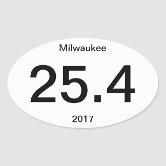 Sticker Ovale 25,4 Marathon Milwaukee