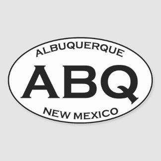 Sticker Ovale ABQ - Albuquerque Nouveau Mexique