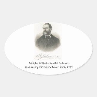 Sticker Ovale Adolphe (Wilhelm Adolf) Gutmann