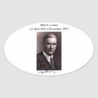 Sticker Ovale Albert Coates