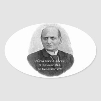 Sticker Ovale Alfred Heinrich Ehrlich