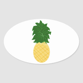 Sticker Ovale Ananas