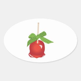 Sticker Ovale Apple glacé