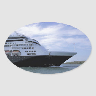 Sticker Ovale Arc lisse de bateau de croisière