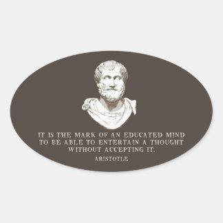 Sticker Ovale Aristote a instruit l'esprit
