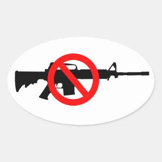 Sticker Ovale Armes d'assaut d'interdiction