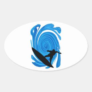 Sticker Ovale Augmentation de francs-tireurs