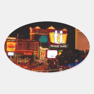 Sticker Ovale Bande de Las Vegas