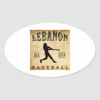 Sticker Ovale Base-ball 1889 du Liban Pennsylvanie