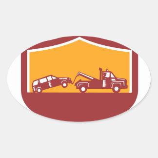 Sticker Ovale Bouclier de voiture de remorquage de dépanneuse