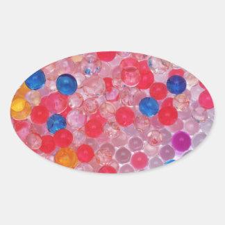 Sticker Ovale boules transparentes de l'eau