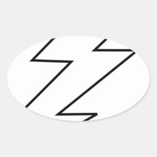 Sticker Ovale boulon de foudre