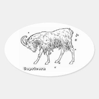 Sticker Ovale Capricorne