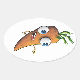 Sticker Ovale Carotte