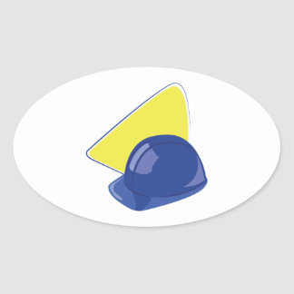 Sticker Ovale Casque antichoc