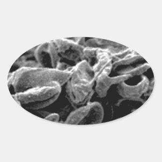 Sticker Ovale cellules ou bactéries noires