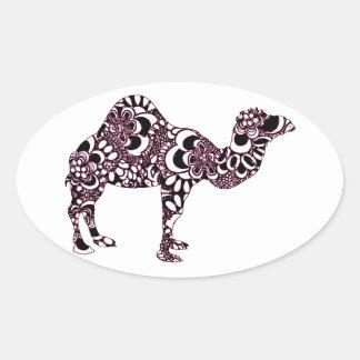 Sticker Ovale Chameau 2