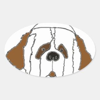Sticker Ovale Chiot Francis pour de petits articles