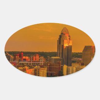 Sticker Ovale Cincinnati d'or