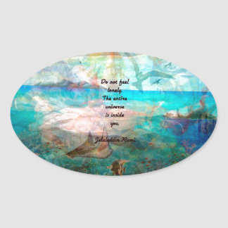 Sticker Ovale Citation d'inspiration de Rumi au sujet de