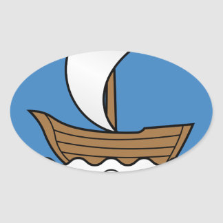 Sticker Ovale Coat_of_Arms_of_Dzisna, _Belarus