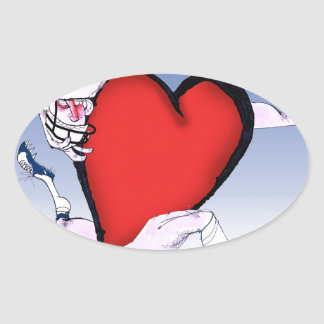 Sticker Ovale coeur principal de la Caroline du Nord, fernandes