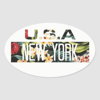 STICKER OVALE COLLE - FLORALE NEW YORK