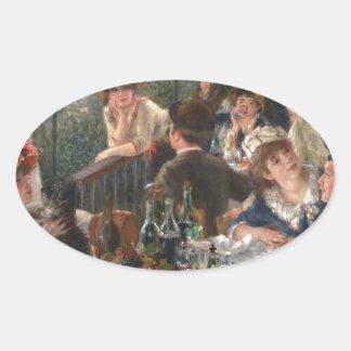 Sticker Ovale Déjeuner de la partie de canotage - Renoir