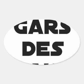 Sticker Ovale Des Gars des Eaux - Jeux de Mots - Francois Ville