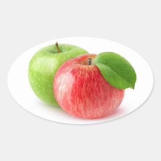 Sticker Ovale Deux pommes