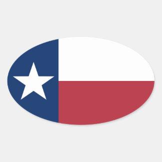 Sticker Ovale Drapeau bleu blanc rouge du Texas