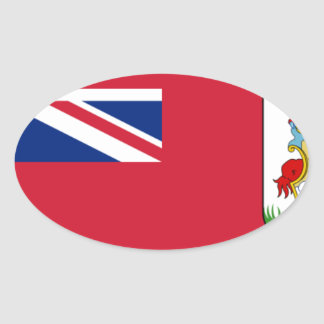 Sticker Ovale Drapeau des Bermudes