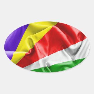 Sticker Ovale Drapeau des Seychelles