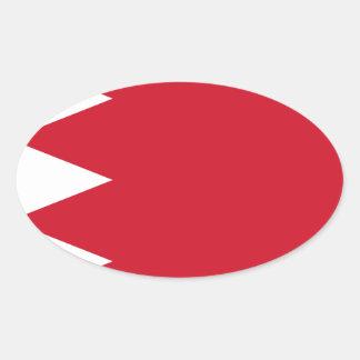 Sticker Ovale Drapeau du Bahrain
