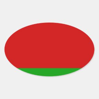 Sticker Ovale Drapeau du Belarus
