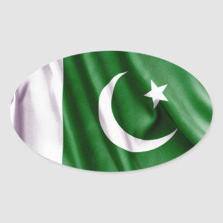 Sticker Ovale Drapeau du Pakistan