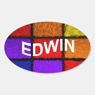 STICKER OVALE EDWIN