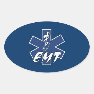 Sticker Ovale Étoile active d'EMT de la vie