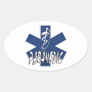 Sticker Ovale Étoile active d'infirmier de la vie