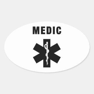 Sticker Ovale Étoile de médecin de la vie