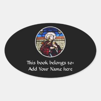 Sticker Ovale Fenêtre en verre teinté de Barbara de saint