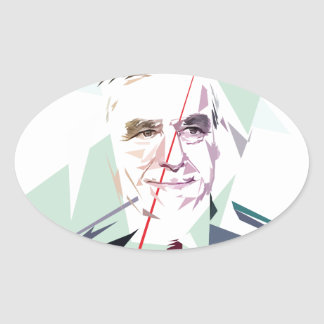 Sticker Ovale François Fillon après le Pénélope Gate