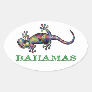Sticker Ovale Gecko des Bahamas