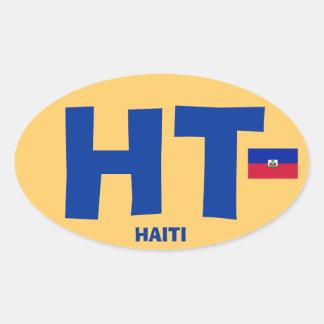 Sticker Ovale Grand ovale d'Euro-style de HT du Haïti