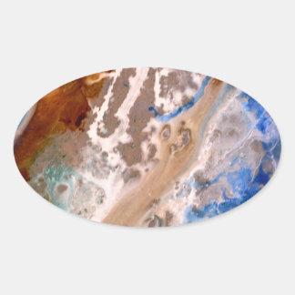 Sticker Ovale Granit de Great Lakes