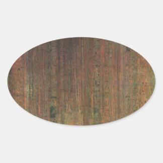 Sticker Ovale Gustav Klimt - forêt de pin