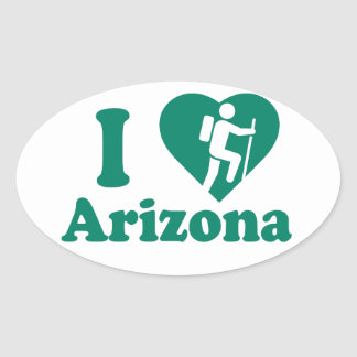 Sticker Ovale Hausse Arizona